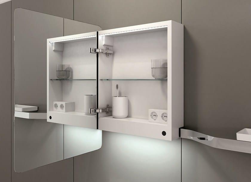 Bathroom mirror with cabinet VASE | Mirror with cabinet by INBANI