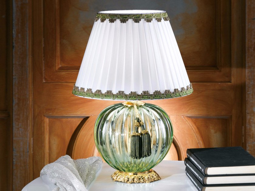 Direct light handmade incandescent Murano glass table lamp VE 1008 | Table lamp by Masiero