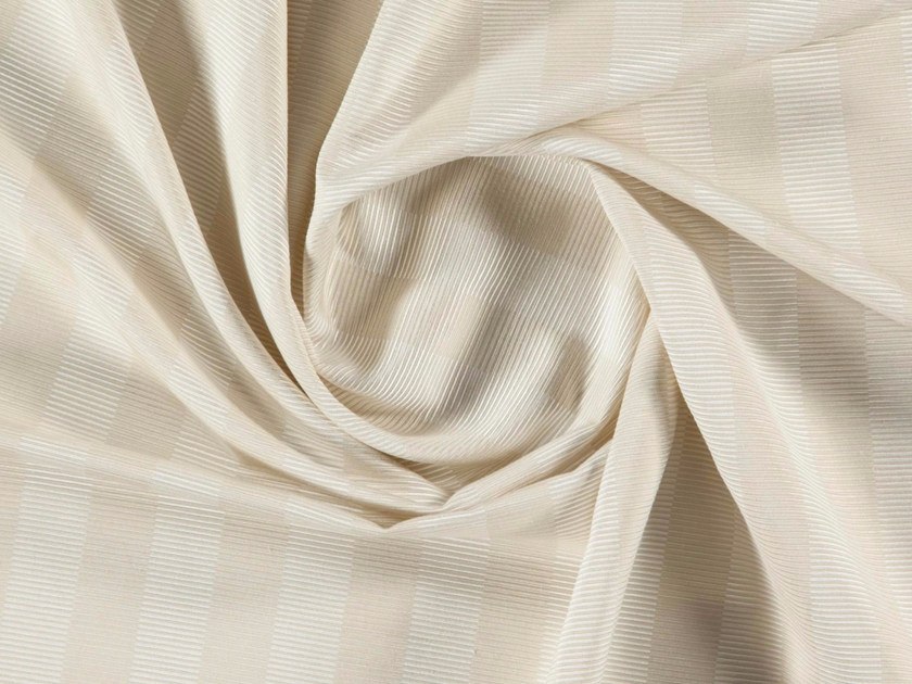 Striped washable cotton and polyester fabric for curtains VEGA by More Fabrics