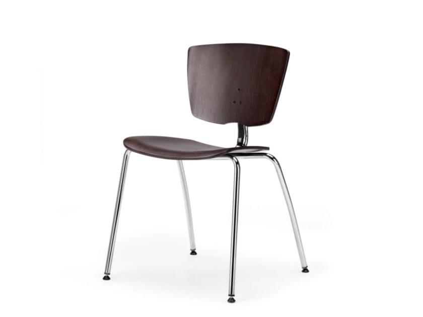 Multi-layer wood training chair VEKTA 100 by TALIN