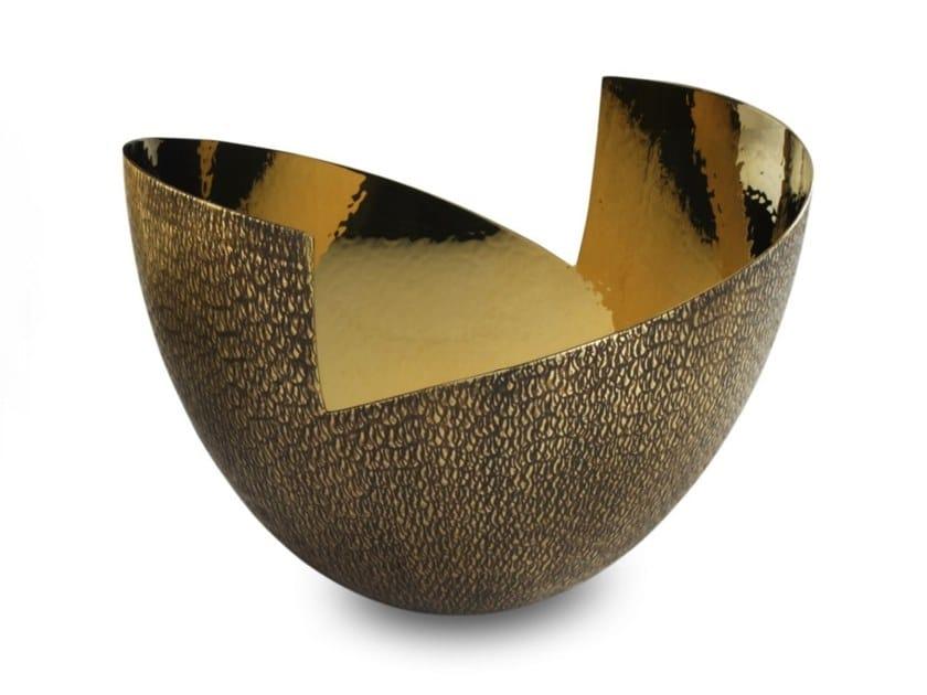 Brass bowl / centerpiece VELA | Brass bowl by ZANETTO