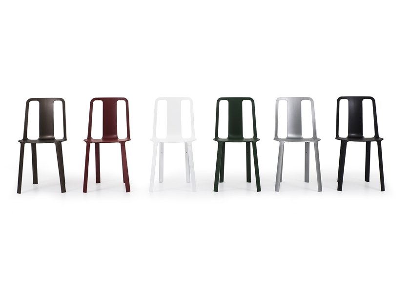 Stackable Magnesium garden chair VELA by Magis