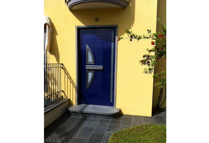 Glass and aluminium armoured door panel VELE/X2 by ROYAL PAT