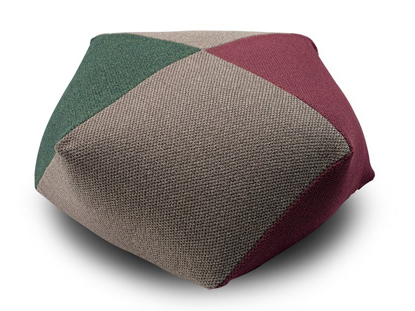 Fabric pouf with removable lining VELIDHOO | Pouf by MissoniHome