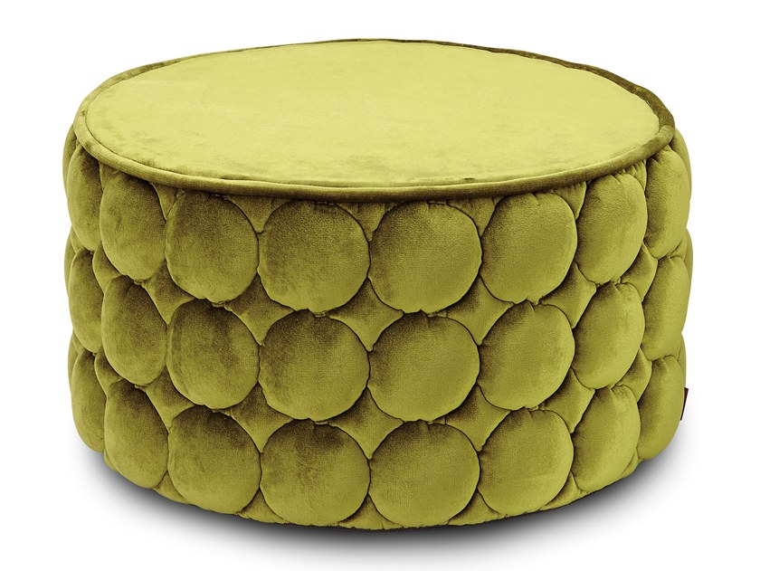 Velvet pouf with removable lining VELLETRI by MissoniHome