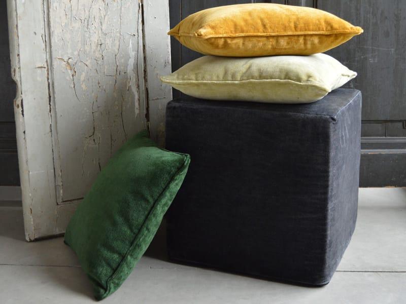 Solid-color velvet fabric LINEN VELVET by l'Opificio