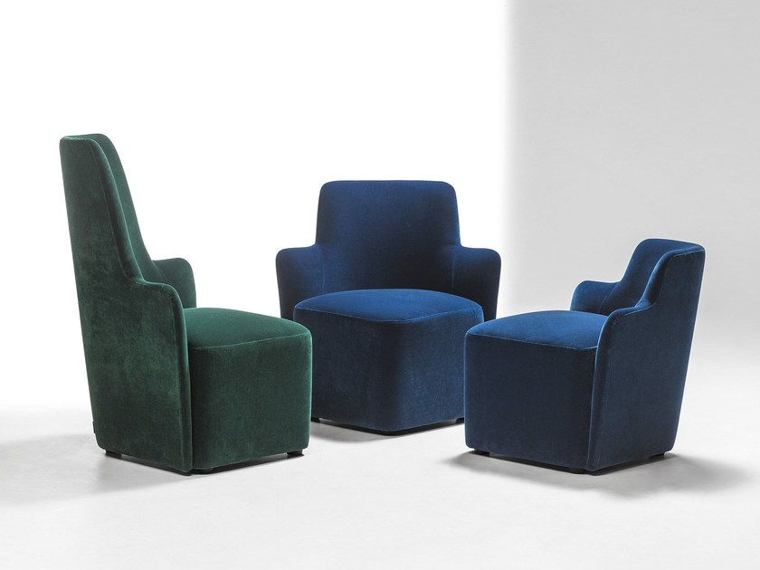 Corner sectional armchair VELOUR | Corner armchair by La Cividina