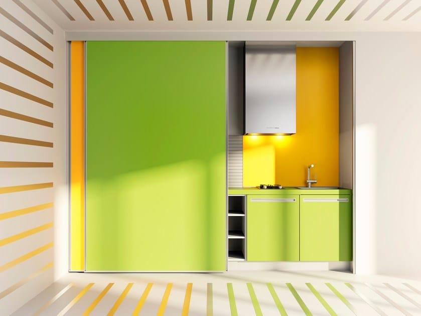 Hideaway linear HPL kitchen VELVE   Hideaway kitchen by De Rosso