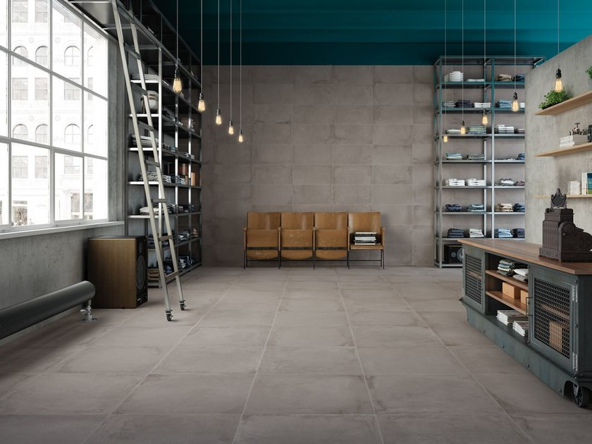 Full-body porcelain stoneware wall/floor tiles VELVET CROMO by La Fabbrica