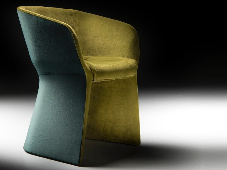 Velvet guest chair MARGARITA | Velvet easy chair by Diemme