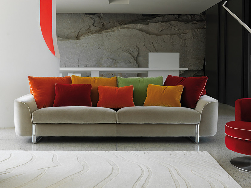 Velvet sofa HELLIS | Velvet sofa by Borzalino
