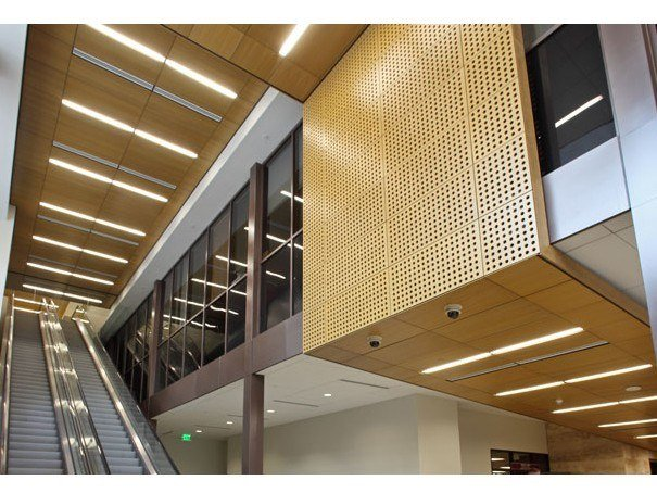 Wood veneer ceiling tiles VENEERED WOOD, TILES & PLANKS by HunterDouglas Architectural