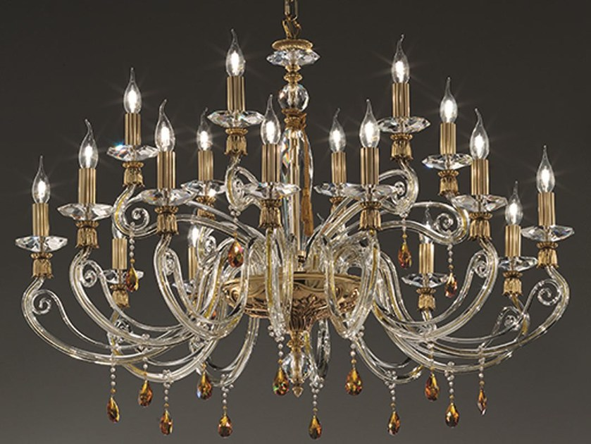 Chandelier with Swarovski® Crystals VENERE L12+6 TOP by Euroluce Lampadari