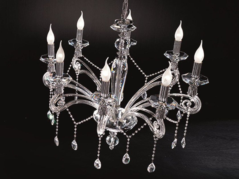 Chandelier with Swarovski® Crystals VENERE L8 by Euroluce Lampadari