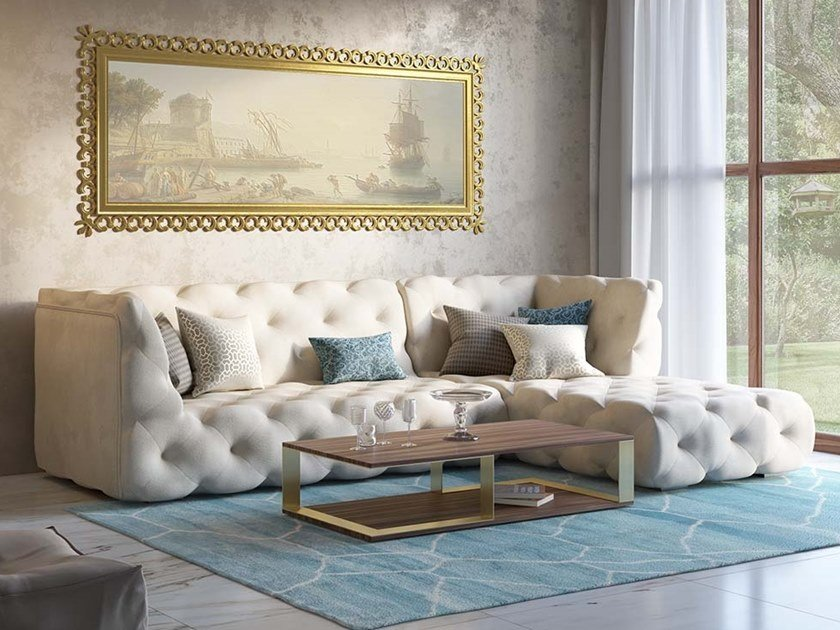 Tufted Sectional Sofa Venere By Scandal