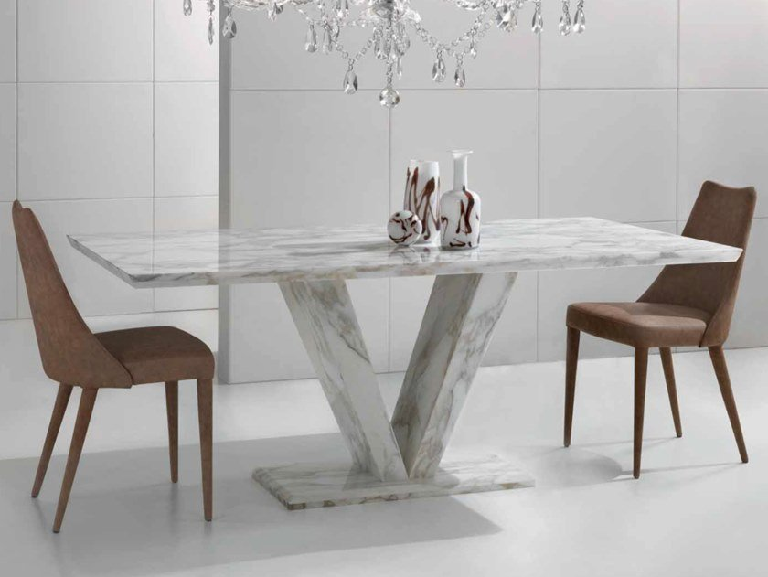Rectangular Calacatta marble table VENERE | Table by International Marmi
