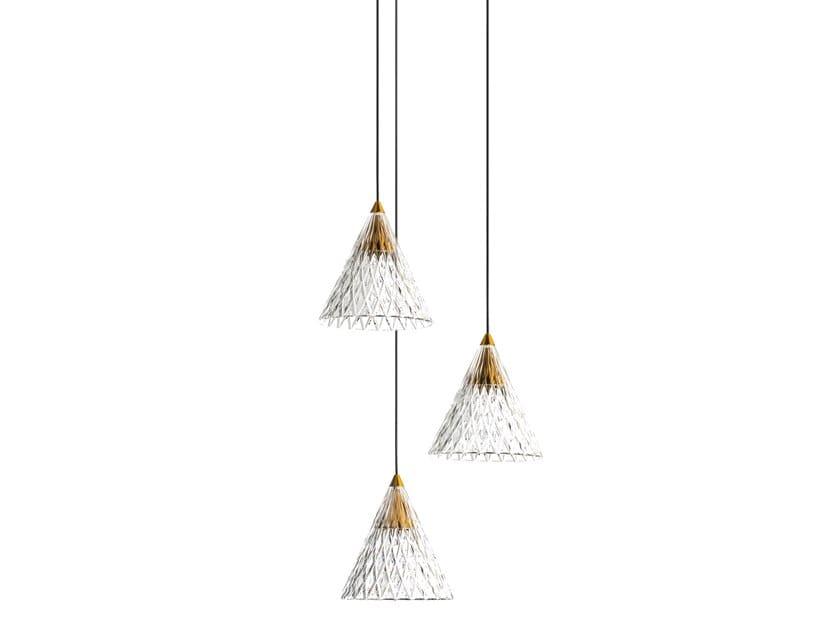 LED PMMA pendant lamp VENETO - 3 by LEDS C4