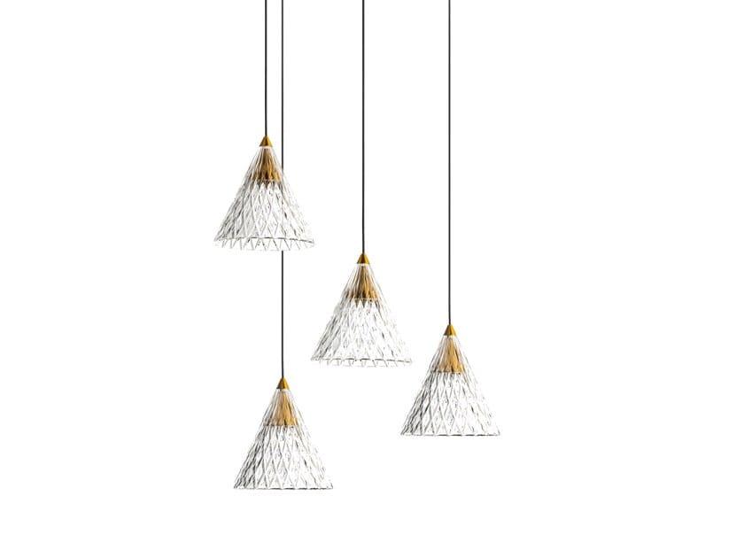 LED PMMA pendant lamp VENETO - 4 by LEDS C4