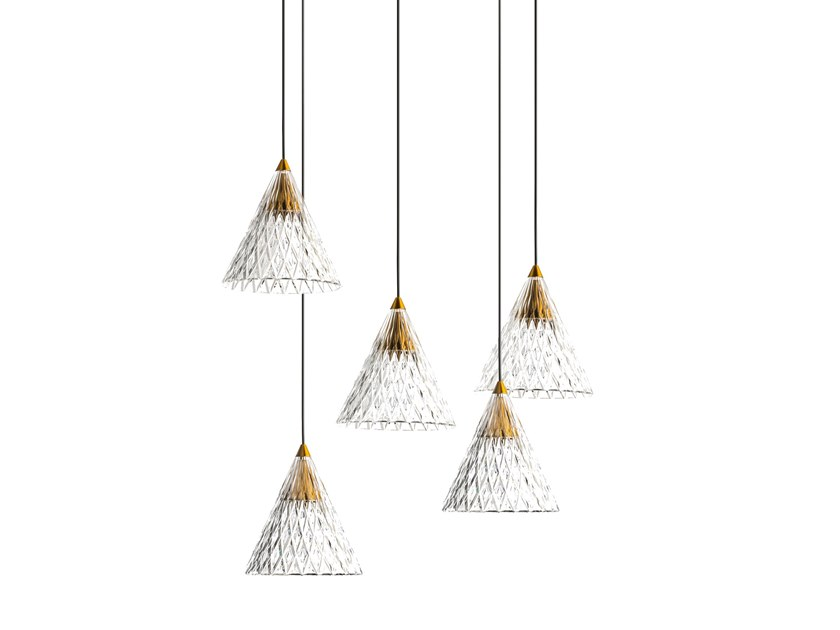 LED PMMA pendant lamp VENETO - 5 by LEDS C4