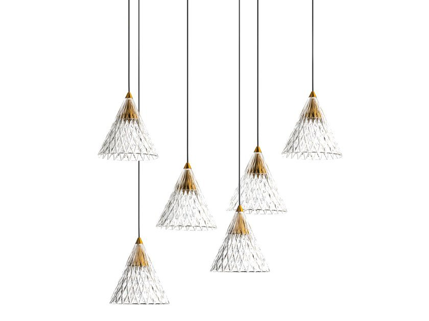 LED PMMA pendant lamp VENETO - 6 by LEDS C4