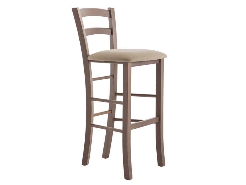 High beech stool with back VENEZIA 42AA.i2 by Palma