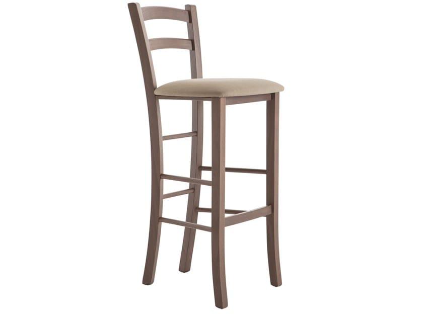 High beech stool with back VENEZIA 42AI.i2 by Palma