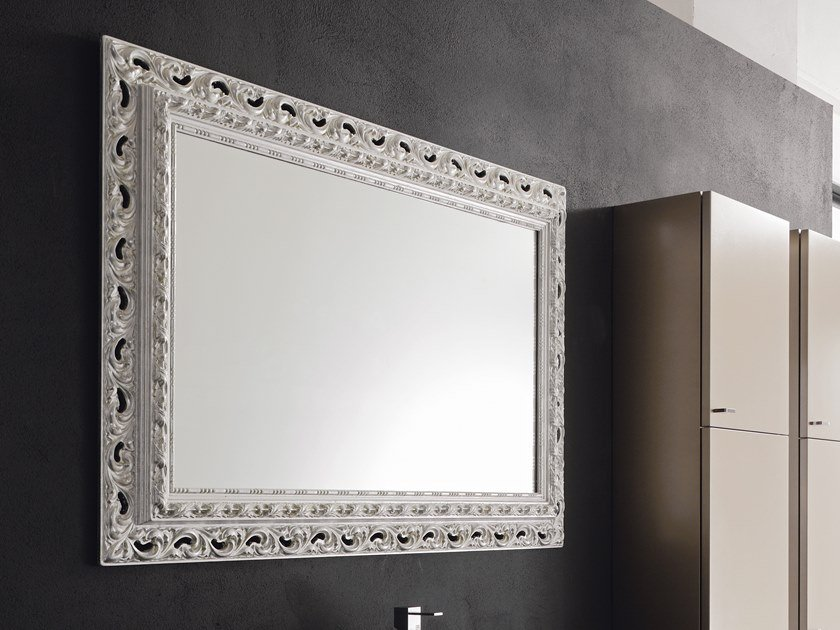 Specchi Rettangolari Da Parete.Specchio Rettangolare Con Cornice Da Parete Venezia By Arblu