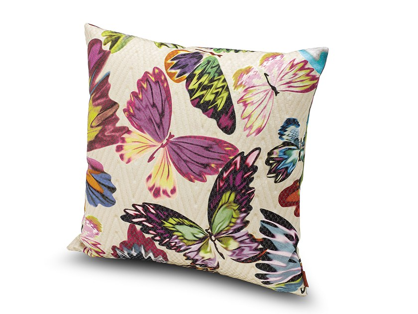 Square satin cushion VENICE | Cushion by MissoniHome