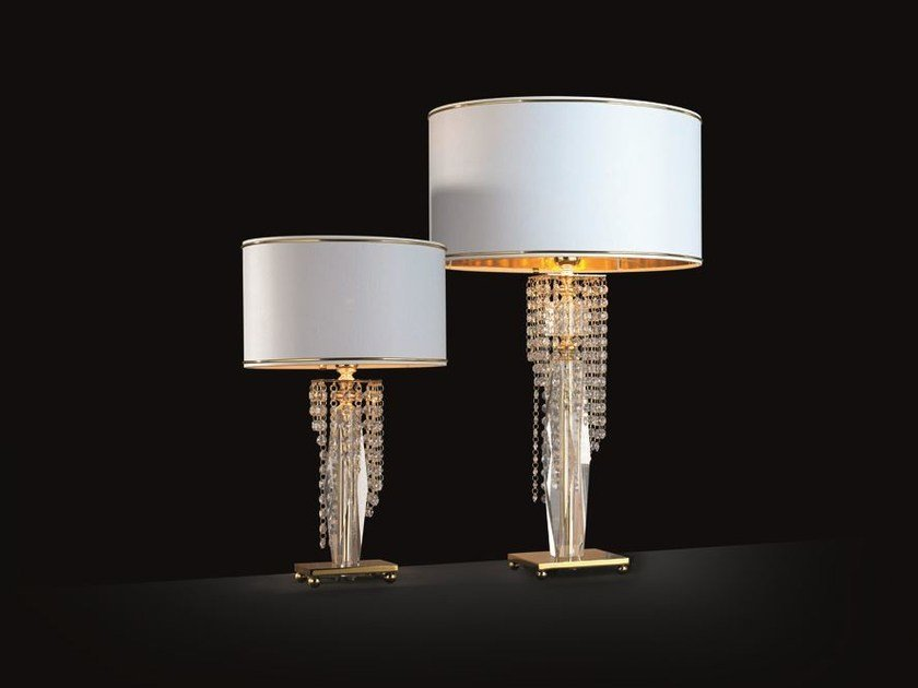 Table lamp with Swarovski® crystals VENICE SUPERLUX LG1 LP1 by Euroluce Lampadari