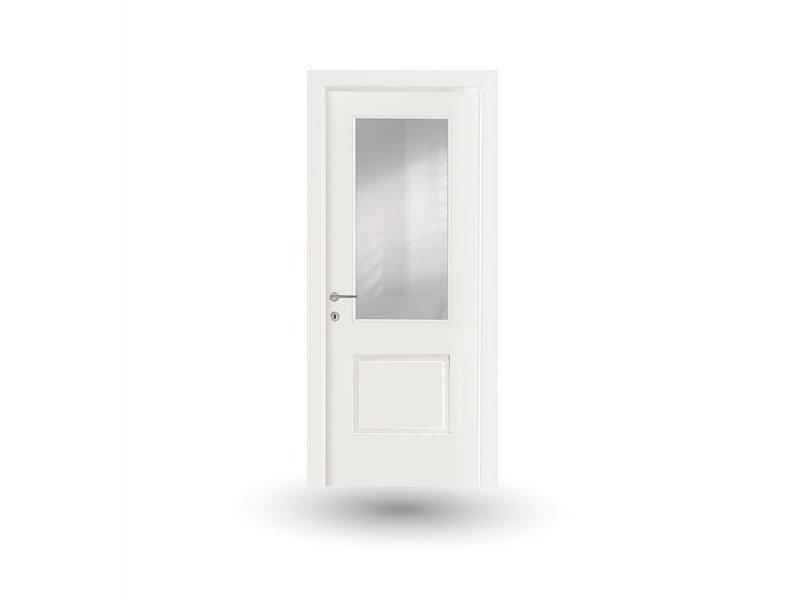 Hinged wood and glass door VENUS 250V1 LACCATO BIANCO by GD DORIGO