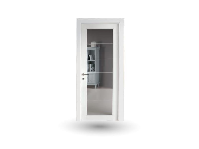 Porta a battente in legno e vetro VENUS 376V1 LACCATO BIANCO by GD DORIGO