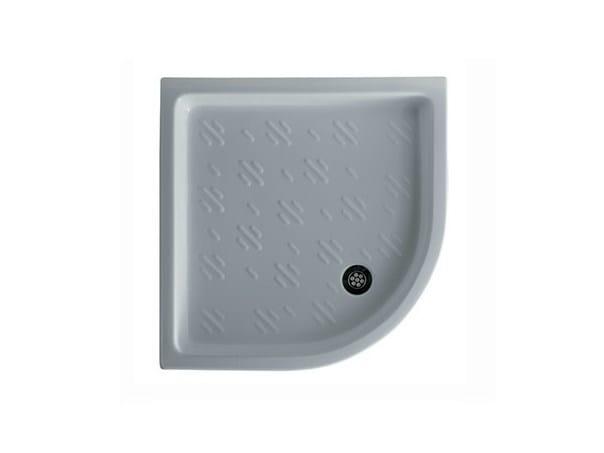 Corner anti-slip shower tray VENUS 75 by GALASSIA