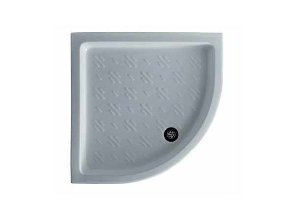 Corner anti-slip shower tray VENUS 80 by GALASSIA