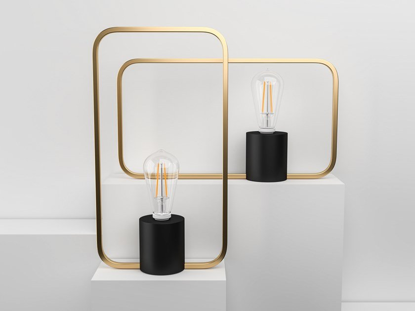 LED brass table lamp with dimmer VENUS by Marzais Créations