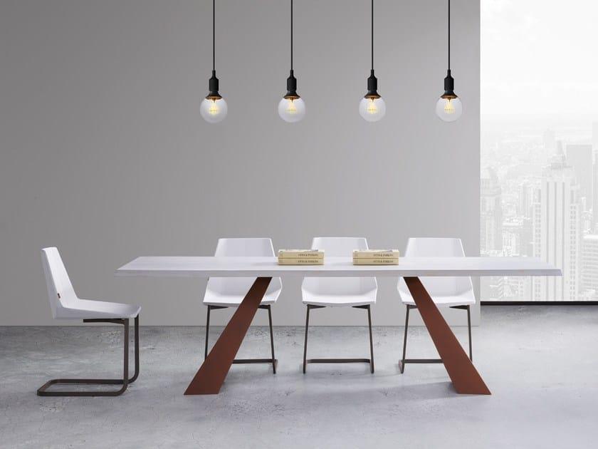 Wooden and metal table VENUS by Natisa
