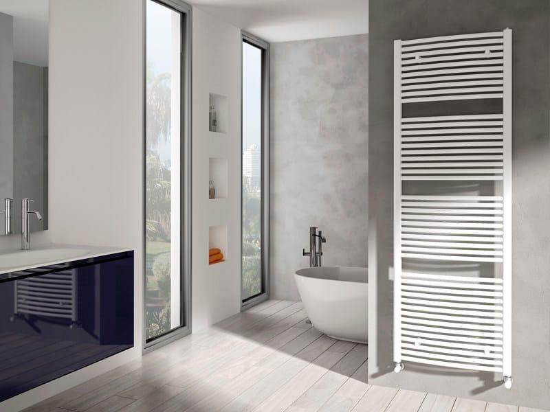 Low temperature wall-mounted steel towel warmer VENUS   Towel warmer by IRSAP