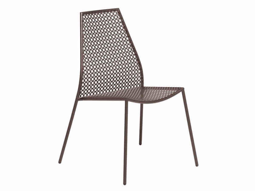 Sedia da giardino impilabile in acciaio VERA | Sedia by emu