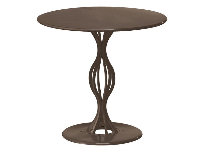 Round steel garden table VERA | Round table by emu