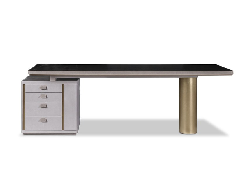 Rectangular office desk with drawers VERBA VOLANT by BAXTER