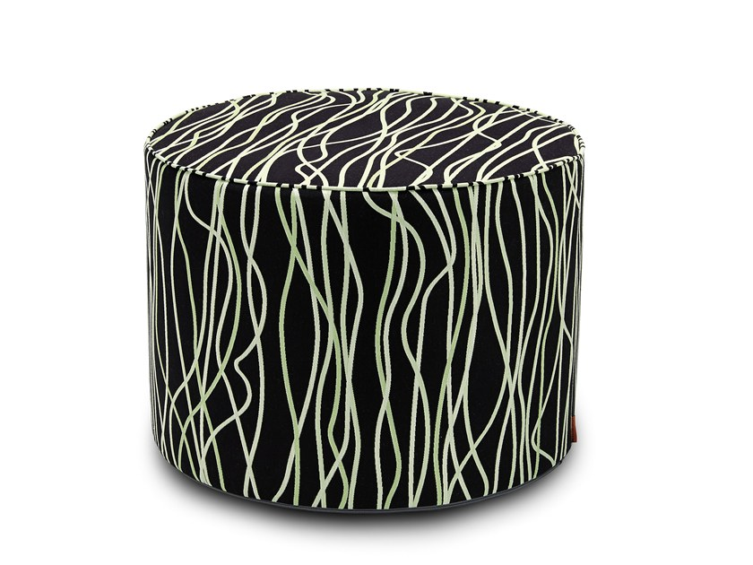 Fabric pouf with removable lining VERBANIA | Pouf by MissoniHome