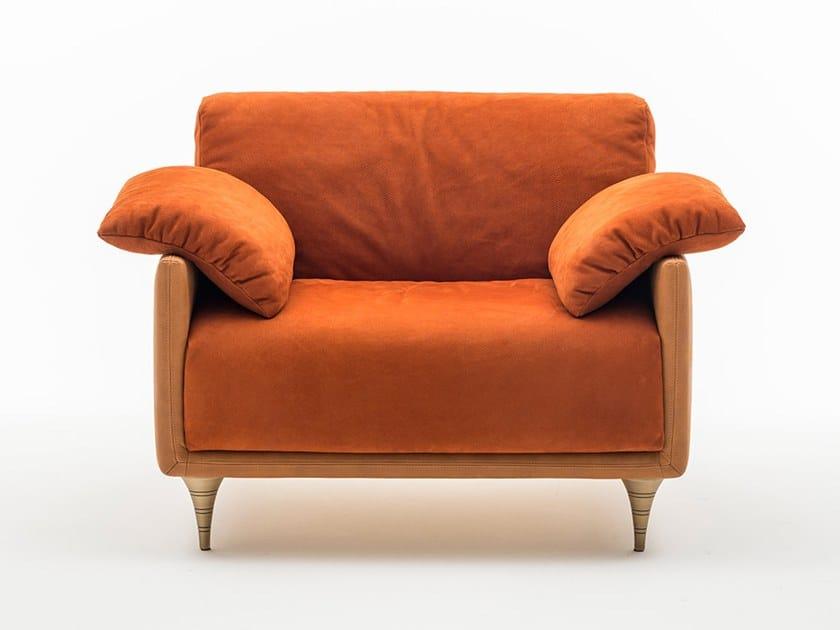 Nabuk armchair with armrests VERDI | Armchair by OAK