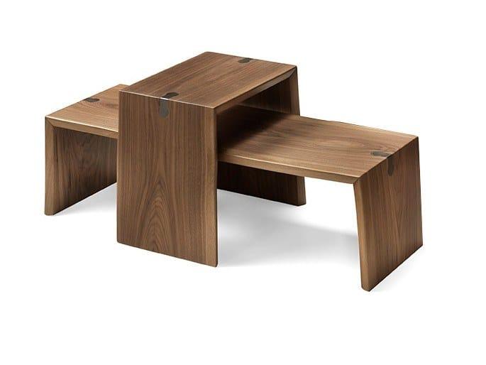 Sled base walnut coffee table VERO L1022 | Coffee table by Arte Brotto