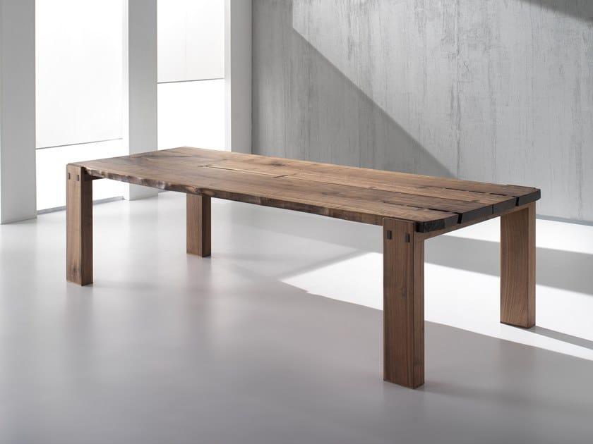 Rectangular walnut table VERO L620 | Walnut table by Arte Brotto