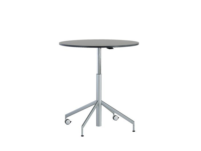 Height-adjustable round table with casters VERON | Height-adjustable table by Wiesner-Hager