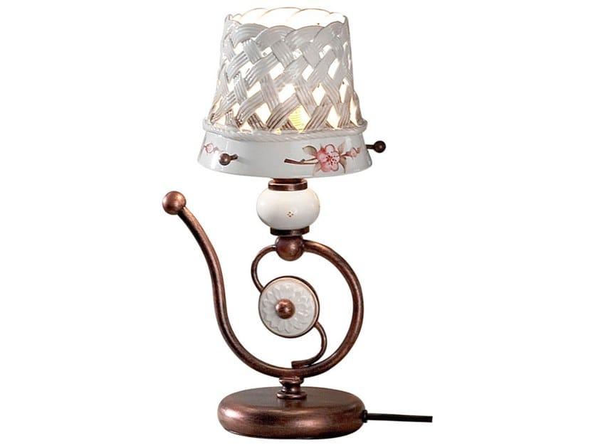Ceramic bedside lamp VERONA   Ceramic bedside lamp by FERROLUCE