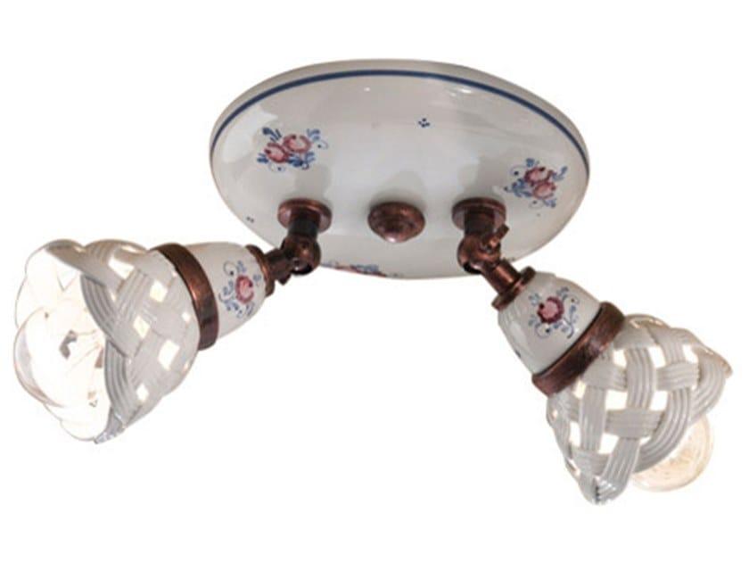 Multiple round ceiling ceramic spotlight VERONA   Multiple spotlight by FERROLUCE