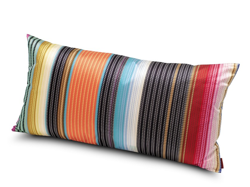 Striped fabric cushion VERONA   Rectangular cushion by MissoniHome