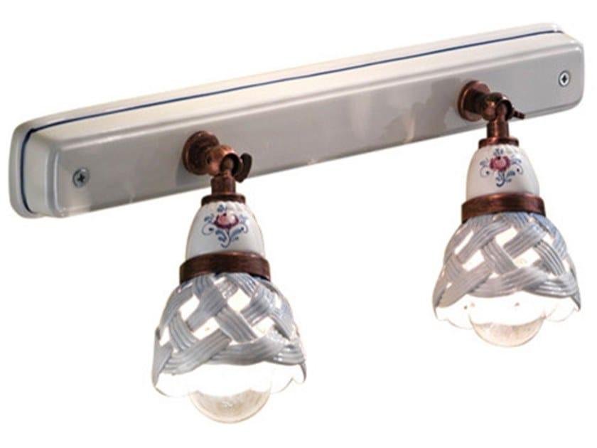 Wall-mounted multiple adjustable ceramic spotlight VERONA | Rectangular spotlight by FERROLUCE
