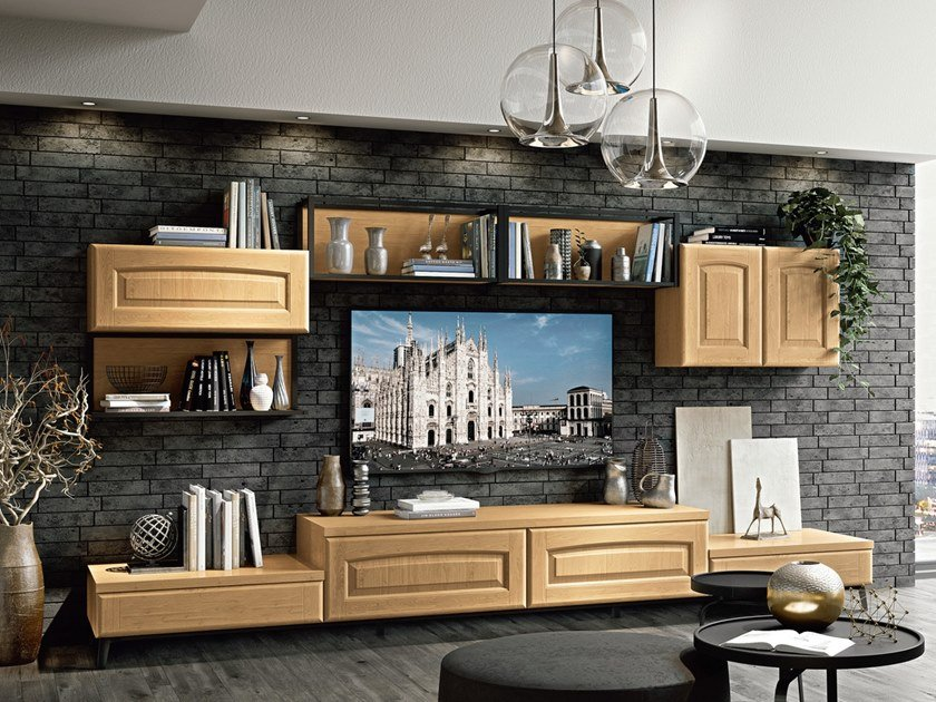 VERONICA | Storage wall Veronica Collection By Cucine Lube