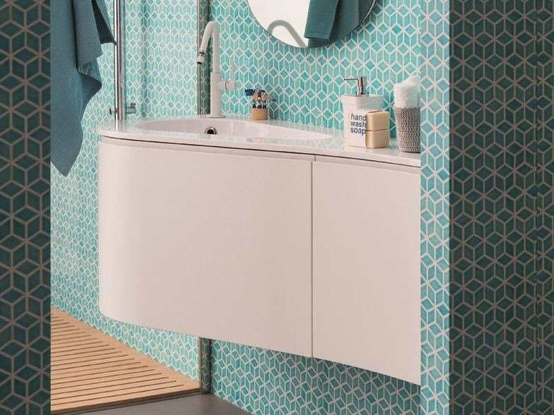 Lacquered wall-mounted vanity unit VERSA | Wall-mounted vanity unit by Birex